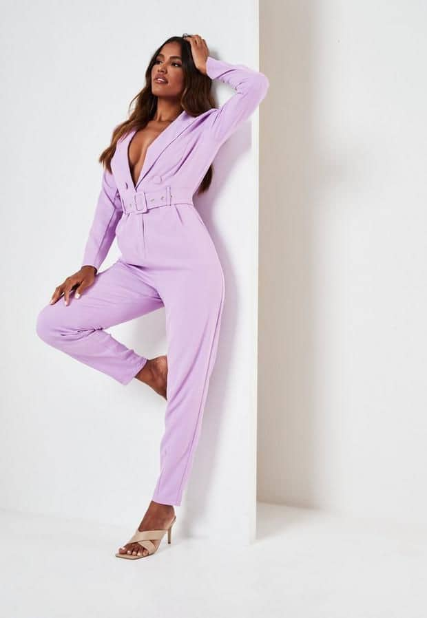 lady wearing pink jumpsuit