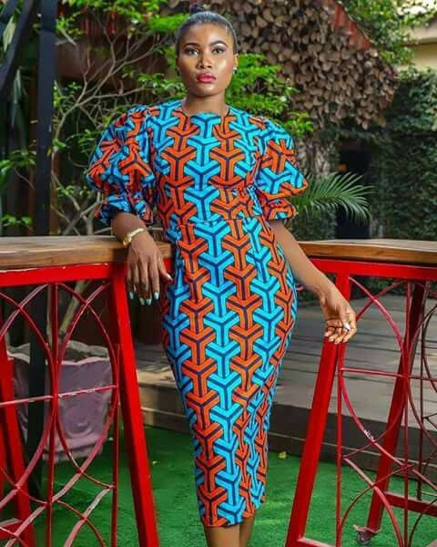 lady in ankara gown at an event