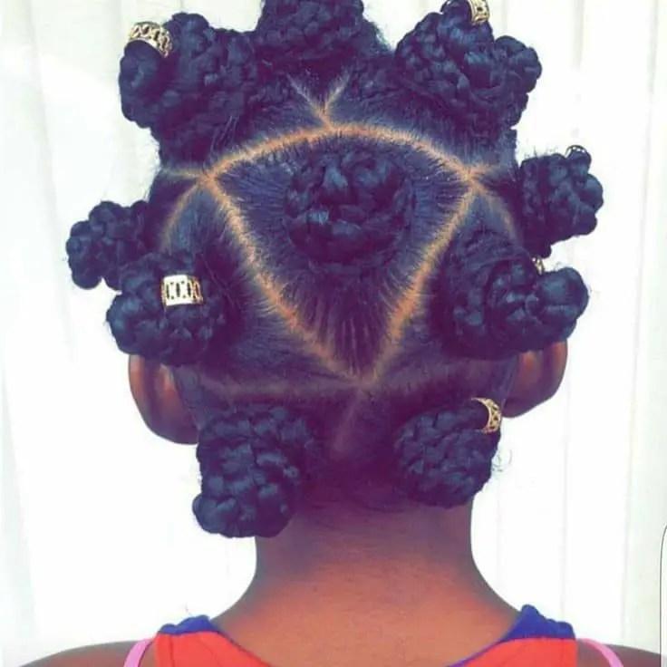 back view of bantu knots