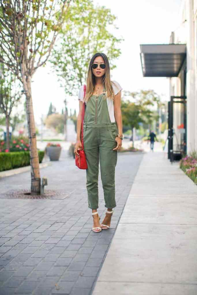 lady wearing dungaree with heels