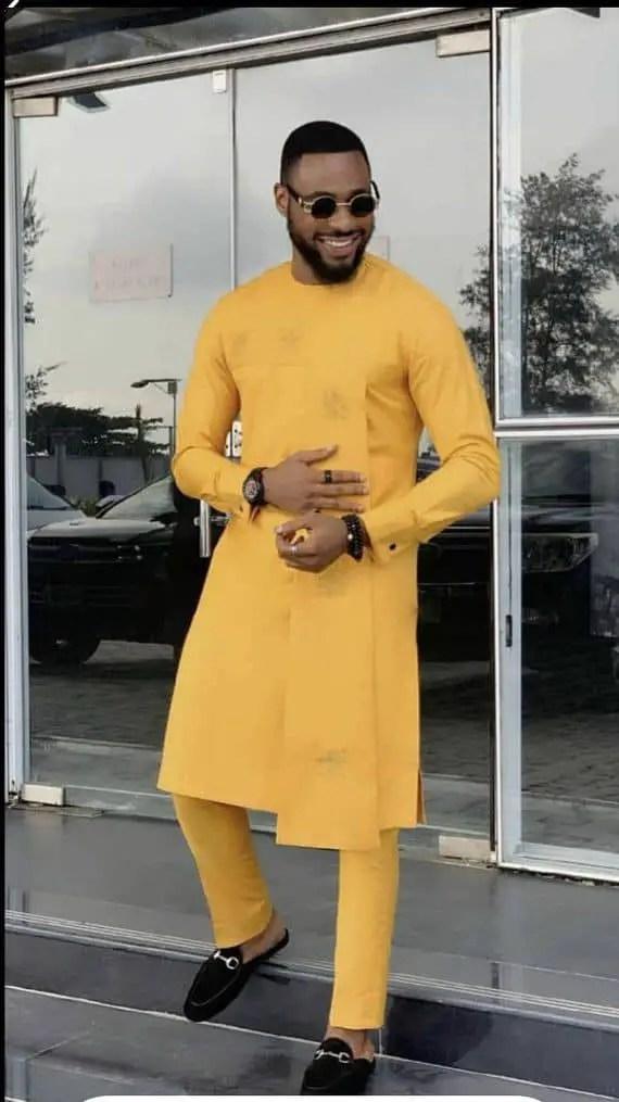 man wearing orange senator