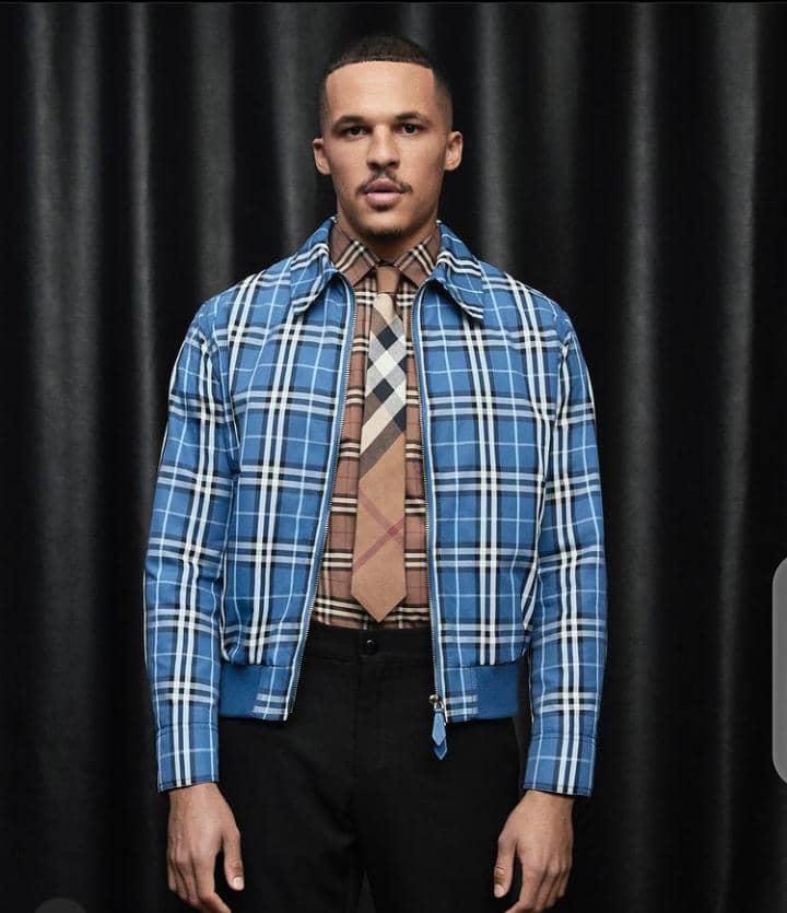 man in a Burberry outfit