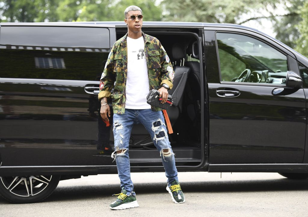 Presnel Kimpembe stepping out in casual style