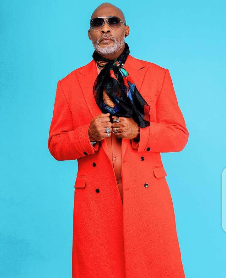 RMD rocking red overcoat with scarf