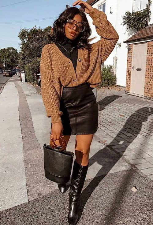 lady layering with sweater