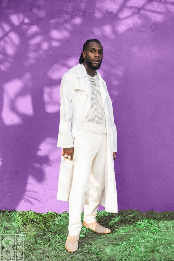 Burna Boy in all-white