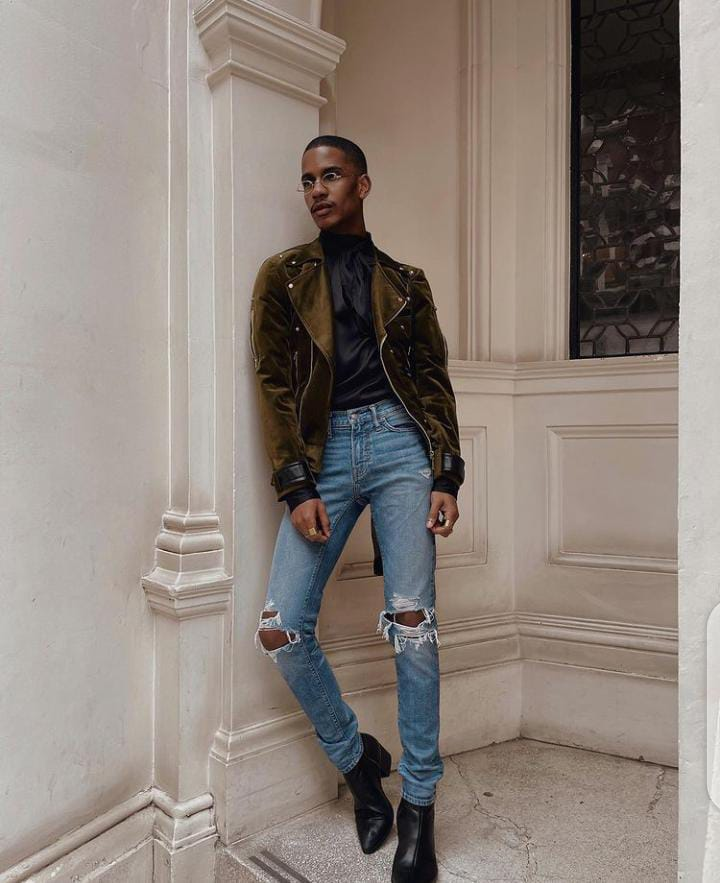 man wearing jackets with jeans