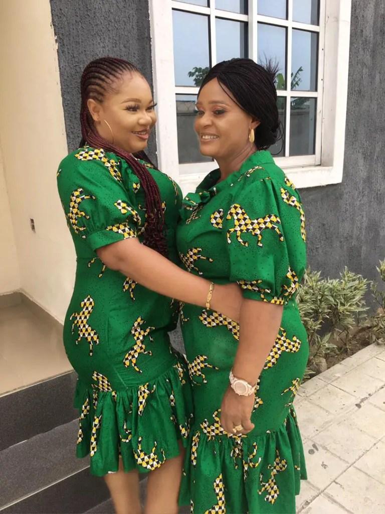 mother and daughter rocking matching ankara dresses
