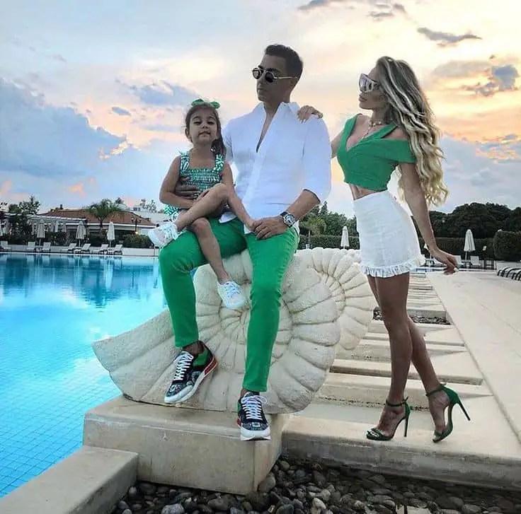 Italian family taking photo outdoor