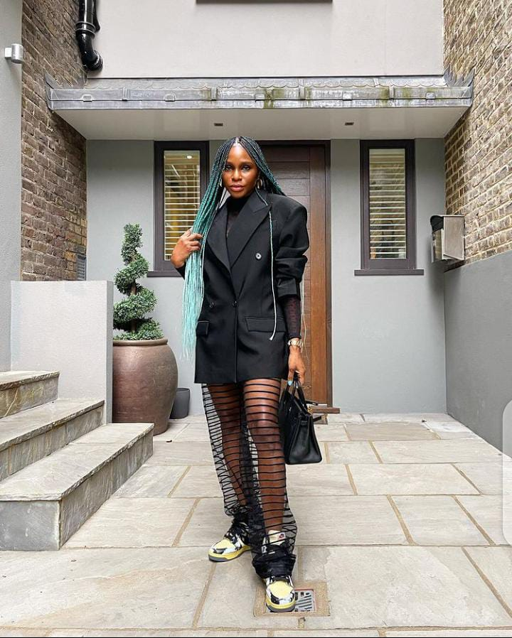 lady wearing dark eccentric clothes