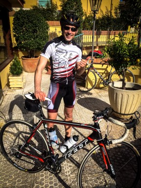 Ready for my first race bike ride in February 2014 in Malaga, Spain