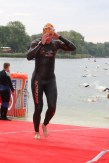 First competition in open water