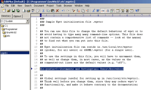08 - Edit wgetrc file