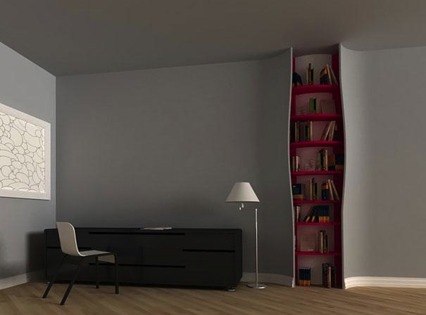 Bookshelf-In-wall