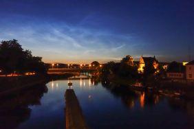 Hameln Weser Abenddämmerung 2014