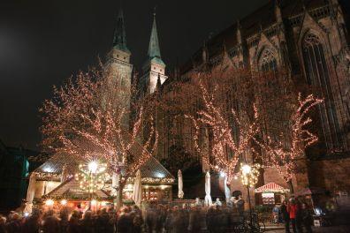 Nürnberg Sankt Sebaldus Kirche Christkindlesmarkt 2014