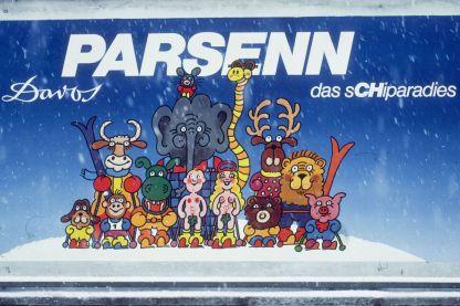 Parsenn Plakat in Davos 1983