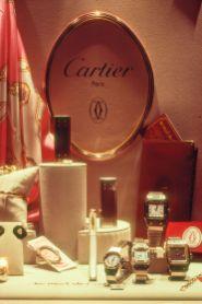 Cartier Schaufenster in Luzern 1983