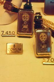 Corum Goldbarren Uhr in Luzern 1983