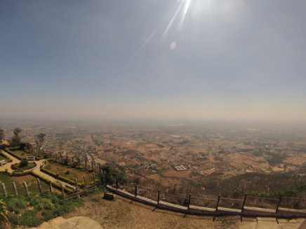 View towards Bangalore from the Nandi Hills