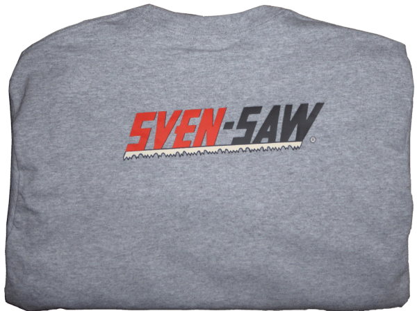 Back of Sven-Saw T-shirt with logo