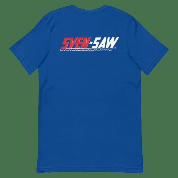 Blue Sven-Saw t-shirt back view
