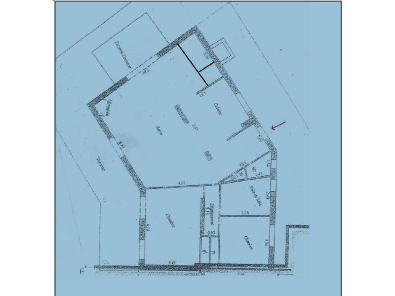 Hus 105 m² till salu i Mougins svensk mäklare franska rivieran planritning