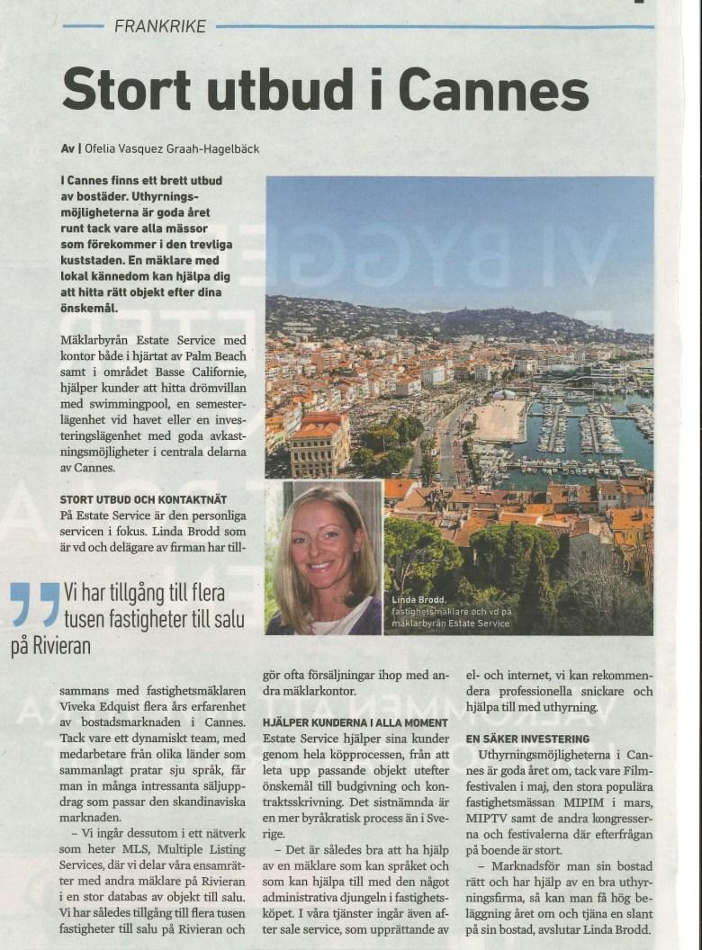 Linda Brod berättar om tjänster som levereras av Estate Service på franska Rivieran