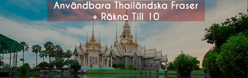 Användbara Thailändska Fraser + Räkna Till 10
