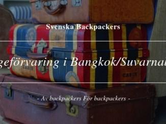 Bagageförvaring i Bangkok/Suvarnabhumi