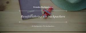Reseförsäkring för backpackers