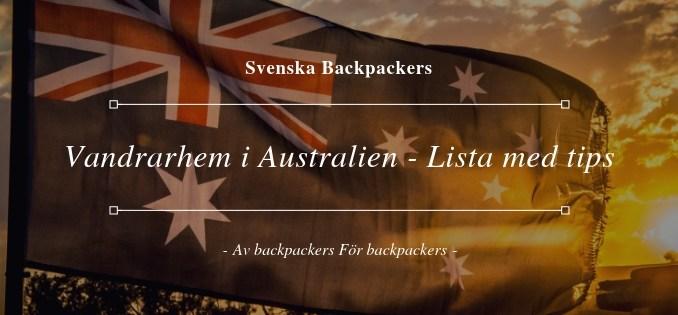 Vandrarhem i Australien - Lista med tips
