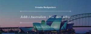 Jobb i Australien - Var Man Söker