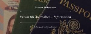Visum till Australien - Information