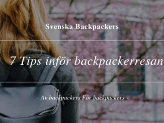 7 Tips inför backpackerresan