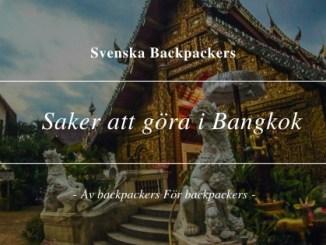 Saker att göra i Bangkok 10 Tips
