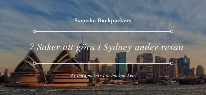 7 Saker att göra i Sydney under resan