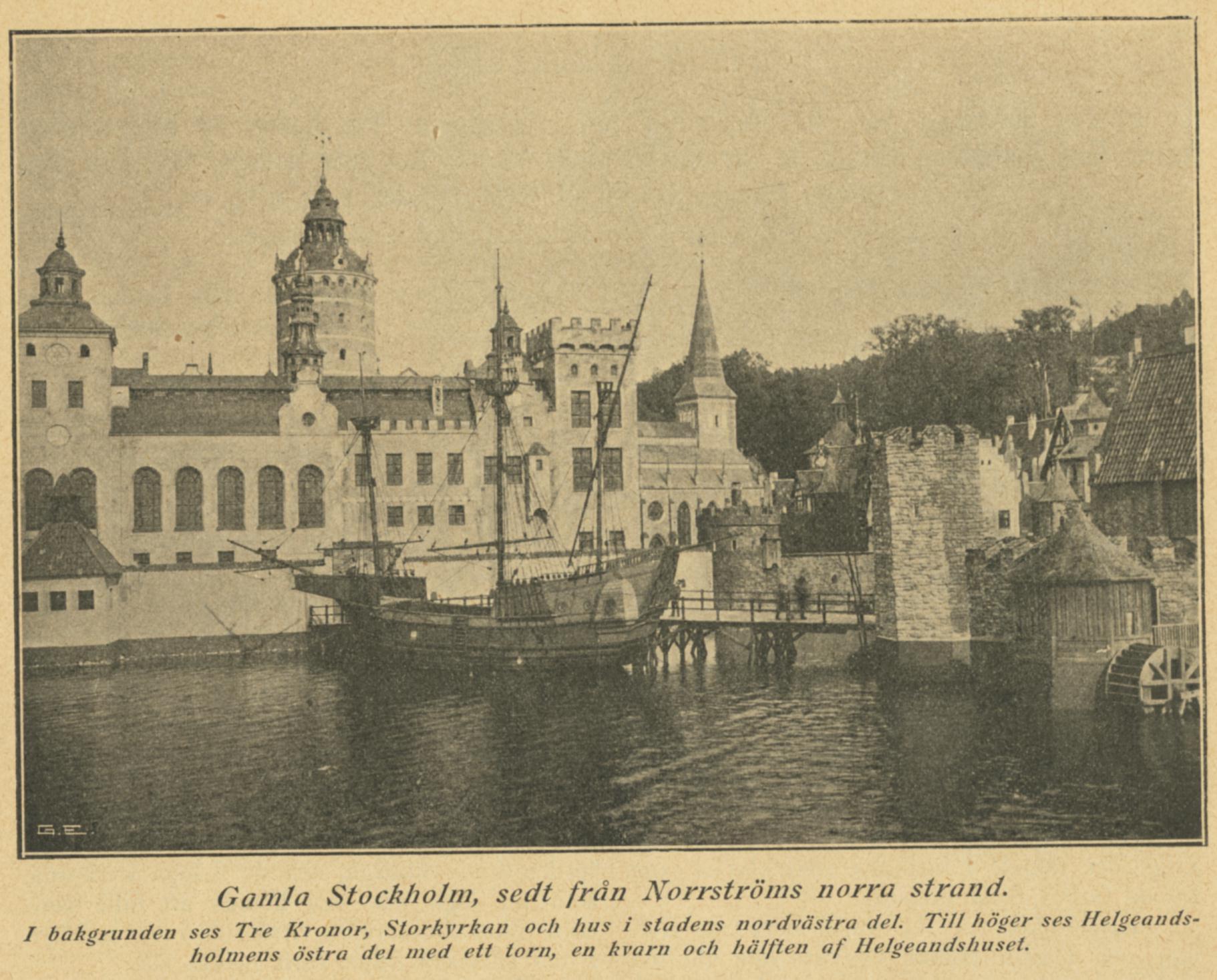 Gamla Stockholm, sett från Norrströms norra strand