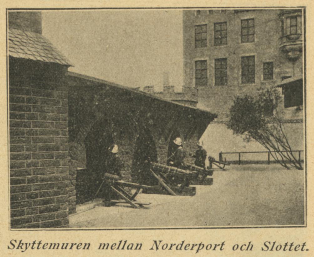 Skyttemuren mellan Norderport och Slottet