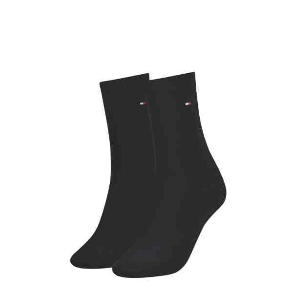 Tommy Hilfiger dames 2-pack sokken zwart