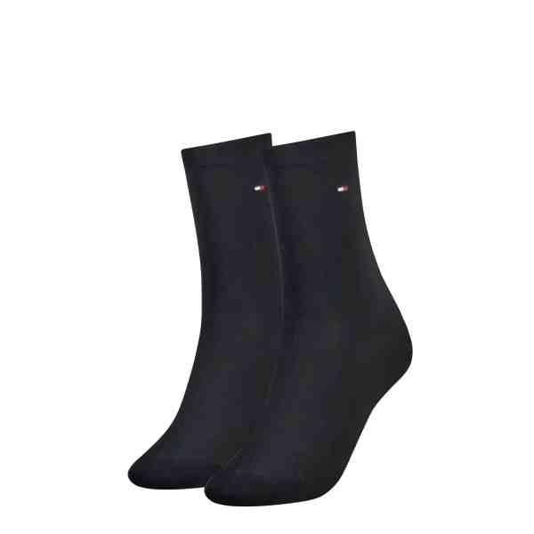 Tommy Hilfiger dames 2-pack sokken donker blauw