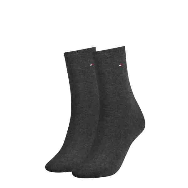 Tommy Hilfiger dames 2-pack sokken anthracite