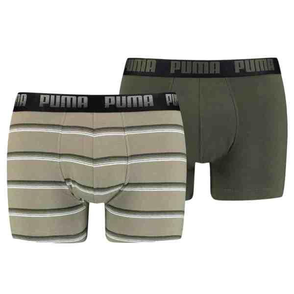 Puma 2-pack Boxer Streep groen