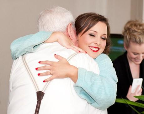 Family hugs