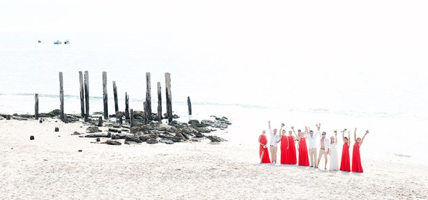 Bridal Party at Port Willunga