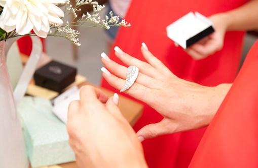 Bridal party present