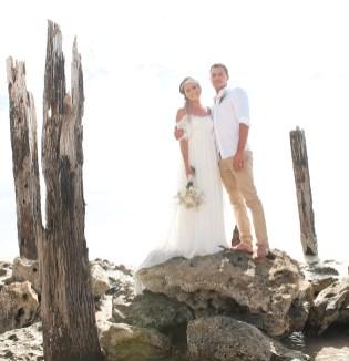 In the pylons of Port Willunga Jetty