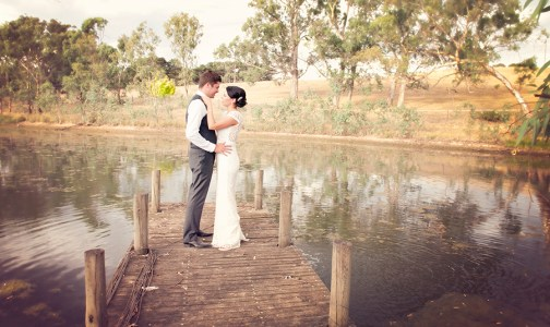 Newly weds at Nepenthe winery