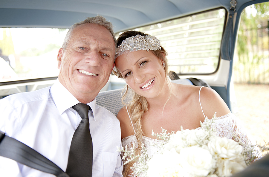 Tahnee and Dad in car