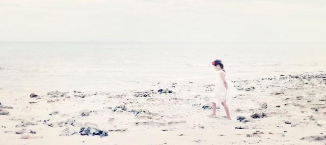 Walking on Southport beach